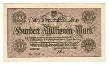 GERMANY BANKNOTE 20 MILLION MARK STADT-DUISBURG 1923