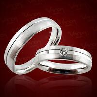 2 Trauringe Silber 925 mit Gravur+Etui Eheringe Verlobungsringe Ringe pr02t