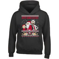 HAPPY HUMAN HOLIDAY UNISEX HOODIE Xmas Sweatshirt Ugly Christmas Sweater Santa