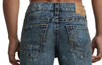 True Religion Men's Straight Big T Jeans in Trail of Blue Wash