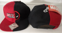 Deadpool Split Logo Marvel Comics Snap Back Black Hat Nwt
