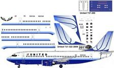 United old colors livery Boeing 737-300 Pointerdog7 decals for Minicraft kit