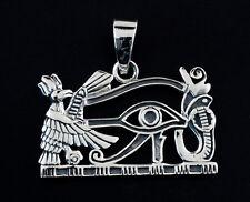 Colgante Ojo d' Horus y símbolos Plata 925-bijoux Egipto antiguo 5 grs 9964