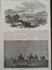 Christmas Bethlehem Wise Men Following the Star in the East 1866 Antique Print