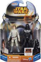 """Star Wars Mission Series 3.75"""" Luke Skywalker & Darth Vader Action Figures NEW"""