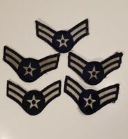 LOT OF 5 U.S AIR FORCE USAF AIRMAN TWO STRIPES MILITARY PATCHES