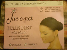 * Jac-O-Net * Bun Invisible Hair Net with Elastic * BLACK *