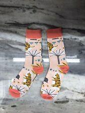 Light Pink Chinese Tiger Design Socks - Medium - USA SHIPPING