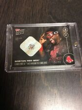 2016 Topps Now Red Sox Clinch David Ortiz Game Used Base Relic Card 74/99