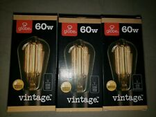 Globe Electric 31321 Pack of (3) Vintage Edison 60W Dimmable S60 Medium Bulbs
