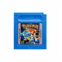 GBC Pokemon Blue Version Nintendo Game Boy Color Video Game Cartridge Card Cart