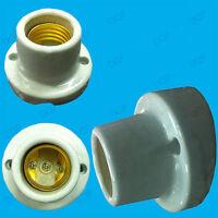 1x Screw Glazed Ceramic Bulb Holder ES E27 Angled Heat Lamp Socket Wall Mounting