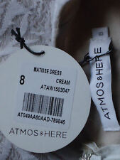 ATMOS&HERE CreamMatisseLaceNudeLinedSize8 NWT