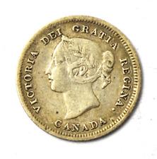 1880 H Canada 5c Five Cents Silver Coin Half Dime KM# 2
