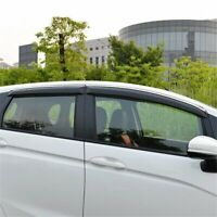 For Honda Fit 2015-2018 Chrome Window Visor Rain Sun Deflectors Guard Vent Shade