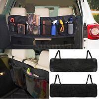 Black Multi Mesh Pocket Hanging Car Boot Car Van Seat Tidy Storage Organiser