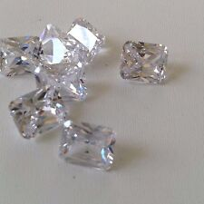 White - Octagon - Cubic Zirconia Loose gems CZ  Lots IF Wholesale AAA - USA