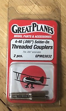 """GPMQ3832 GREAT PLANES 4-40 (0.95"""") SOLDER-ON THREADED COUPLERS (4 PACKS)"""