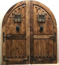 Rustic reclaimed lumber arched/square top door solid wood castle winery U CHOOSE