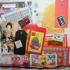 Asian Ephemera Pack Junk Journal Collage Paper Craft Altered Art Feng Shui Decor