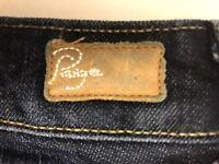PAIGE Summer Jeans Size 27x32 SKYLINE Boot Stretch Women's MONA Wash Denim Dark