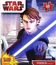 Star Wars Clone Wars Anakin Skywalker W Lightsaber 48 pc Puzzle New 2010 Sealed