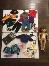 Pleasant Company American Girl Doll Auburn, Green Eyes, Clothing & Extras Lot