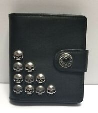 Harley-Davidson Willie G Skull Studded Leather Women's Wallet MSRP $75