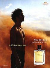 PUBLICITE HERMES PARFUM TERRE D'HERMES EAU DE TOILETTE HOMME DE 2014 FRENCH AD