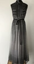 VINCE CAMUTO Women's Dress Size 2 Black/White Striped