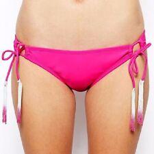 dddfb72c8f536 Bikini Lab Bikini Bottom Sz S Dark Pink Side Tie Solid Swimwear Swim Bottom