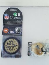 New Orleans Saints antenna topper and a set of two car coasters / air freshene