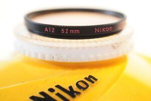 Nikon 52mm A 12 WARM filter for Canon Nikon Pentax sigma any brand lens