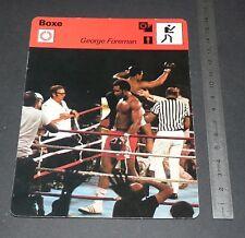 SPORT SHEET 1977 USA BOXING GEORGE FOREMAN HEAVYWEIGHT Vs MUHAMMAD ALI KINSHASA