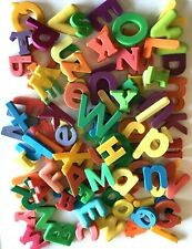 100+ Large Plastic Magnetic Letters & Numbers Variety Colorful Alphabet Learning