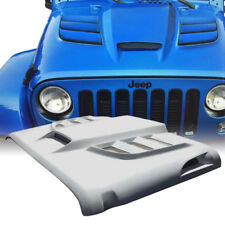 Xprite Custom Fiberglass Hood with Scoop Vents Batman for 07-18 Jeep Wrangler JK