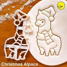 Christmas Alpaca cookie cutter - Animal farm llama lama winter countryside party