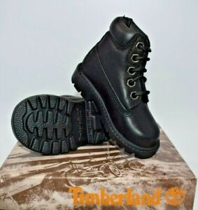 NEW TIMBERLAND 6 INCH CLASSIC BOOT WATERPROOF BLACK TODDLERS SIZE 4.5M (10864)