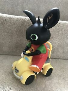 Bing On A Car . Cbeebies . New No Tags Or Box . Approx 9 Inches Tall