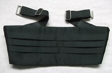 Cummerbund Mens Pleated Vintage Retro 1990s Classic BLACK