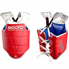 Mooto TKD Reversible Body Protector Chest Guard Red Blue WTF Tae Kwon Do HKD MMA
