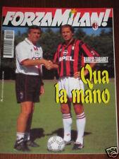 FORZA MILAN 1996/9 FOTO TUTTI I GIOCATORI ROSA + CIFRE