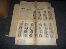 1930 VINELAND HIGH SCHOOL NJ 6/14&17/30 EVENING TIMES NEWSAPERS PUBLISHED GRADS