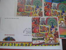 India 2016 Complete Vibrant India Stamp, Miniature Sheet, FDC w/brochure