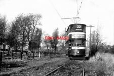PHOTO  2009 LEEDS TRAM CAR 189 THE GOLF HOUSE CROSSOVER THIS CROSSOVER HAD NOT S