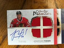 2007-08 OPC Premier Jonathan Toews Rookie Jersey Auto #'D 213/299