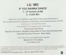 Lil' Mo: If You Wanna Dance PROMO MUSIC AUDIO CD LP & Bio Elektra 2trk PRCD-7387