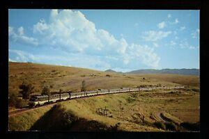 Train Railroad postcard Passenger Diesel Northern Pacific RW Missoula, Montana