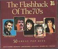 Flashback of the 70's Badfinger, John Travolta, Cat Stevens, Santana, T.. [3 CD]