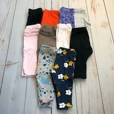 Bundle Of 10 Infant Girl 6 Month Leggings - Carter's & Circo Brand